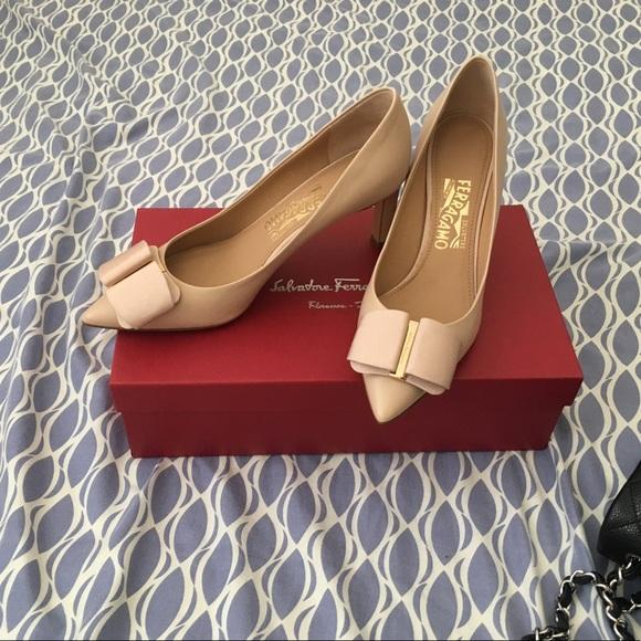 77dbf6e33 Salvatore Ferragamo Shoes | Mimi Pumps With Grosgrain Bow | Poshmark